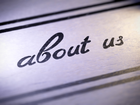 about us ,  my own font   Stock Photo - 17890453