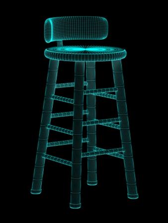 viewport: stool Stock Photo