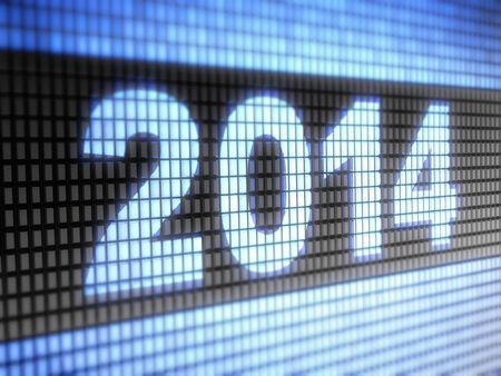 looping:  2014  on screen  Looping  Stock Photo