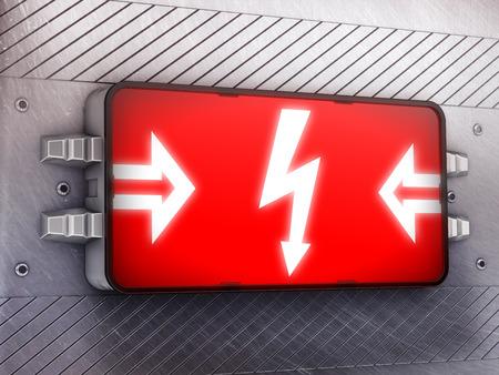 electroshock: risk Stock Photo