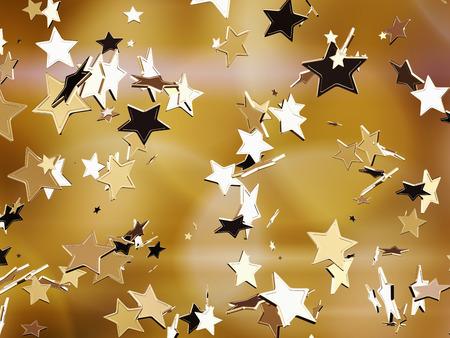 star background:  Golden stars