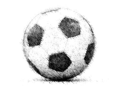 futbol soccer dibujos: Fútbol Foto de archivo