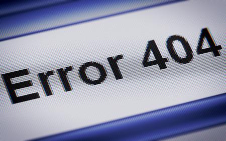 error message: Error 404