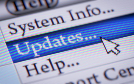 software: Updates Stock Photo