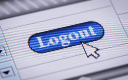 logout: Logout Stock Photo