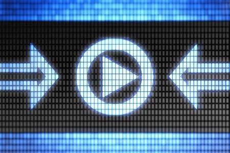 rewind icon: Play icon Stock Photo