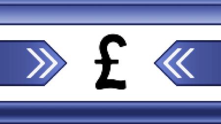 pound: Pound. Proportion 16:9 Stock Photo