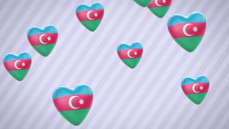 azerbaijani: Azerbaijan. Proportion 16:9 Stock Photo