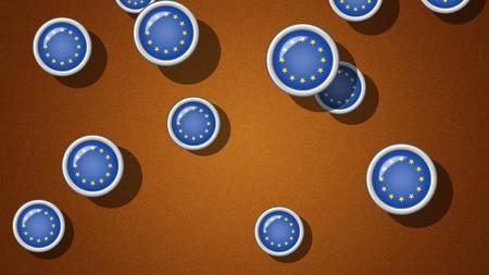 to proportion: EU. Proportion 16:9 Stock Photo
