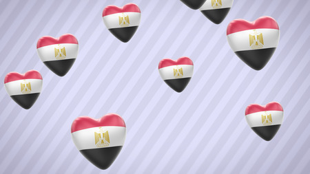 egypt flag: Egypt. Proportion 16:9