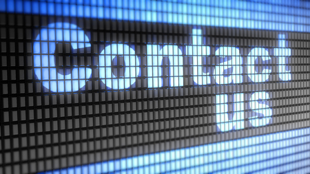 contactus: Contact us word on electronic concept