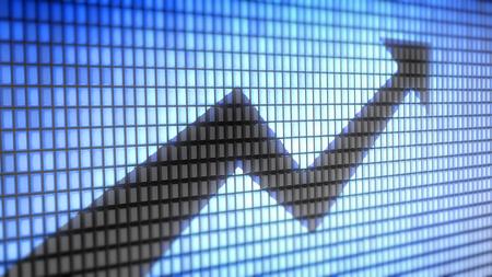 incremento: palabra gráfico en concepto electrónica