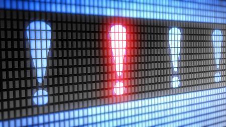 monitor de computadora: icono de la atención en el concepto de electrónica