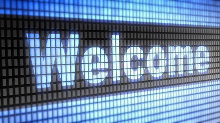 Welcome word on electronic concept Stock Photo