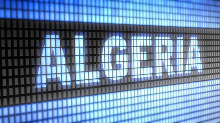 northwest africa: Algeria word on electronic concept Stock Photo