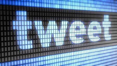 tweet: Tweet word on electronic concept