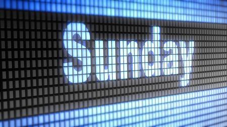 sunday: Sunday Stock Photo