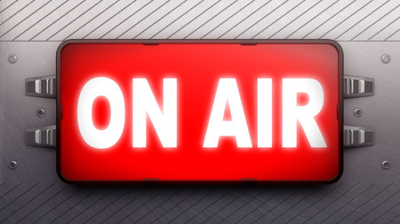 live on air: Signboard on a wall
