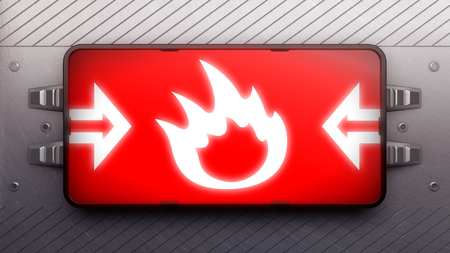 fireballs: Signboard on a wall