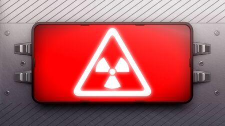 hazardous area sign: Signboard on a wall