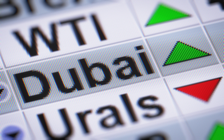 swaps: Dubai Crude Oil. Up. Stock Photo