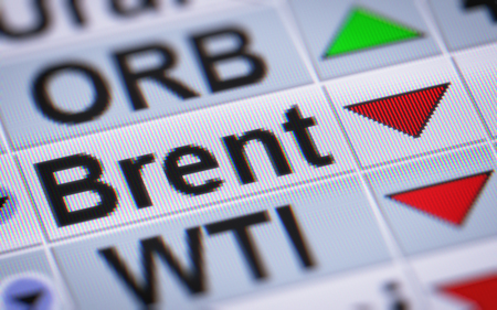 brent: Brent Crude Oil. Down.