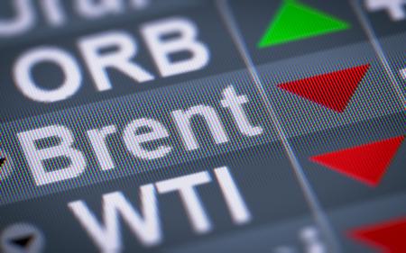 brent crude: Brent Crude Oil. Down.