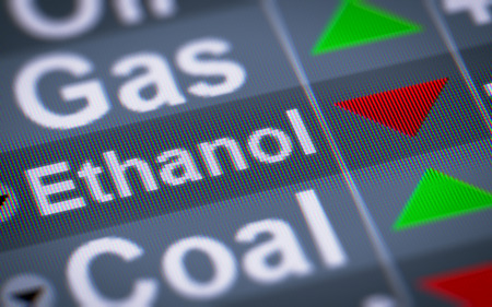 swaps: Ethanol. Down. Stock Photo