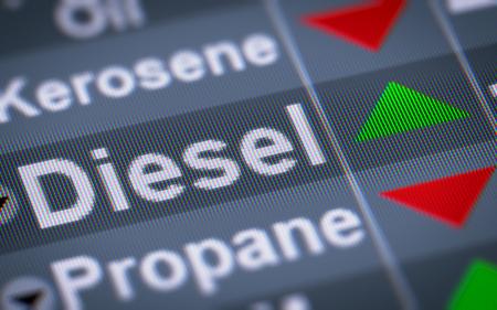 Diesel. Up. Stock Photo