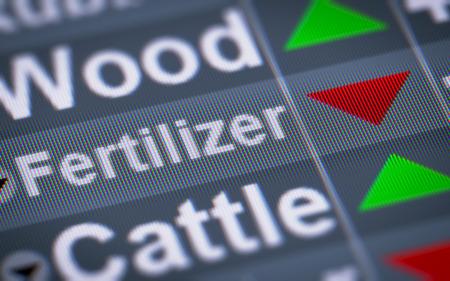 nitrate: Fertilizer index of stock market. Down.