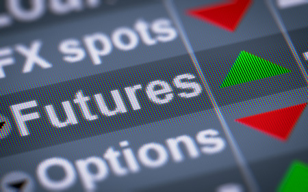 traded: In finance, a futures contract (more colloquially, futures) is a standardized forward contract which can be easily traded between parties other than the two initial parties to the contract. Stock Photo