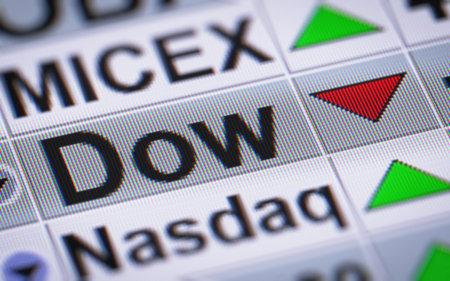 dow: The Dow Jones Industrial Average. Down.