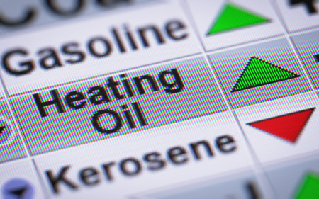 swaps: Index of Heating Oil. Up. Stock Photo
