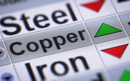 mettalic: Index of Copper. Up.