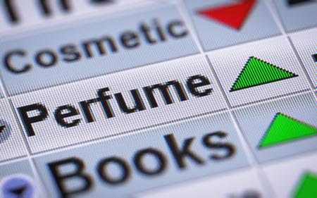 perfumery concept: Index of Perfume. Up.