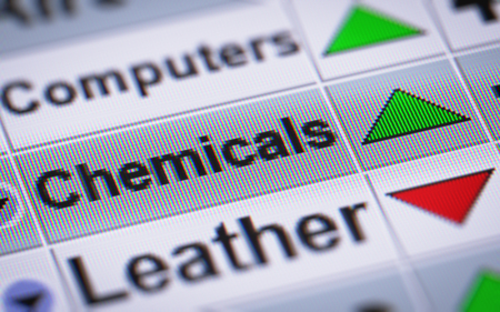 chemic: Index of Chemicals. Up. Stock Photo