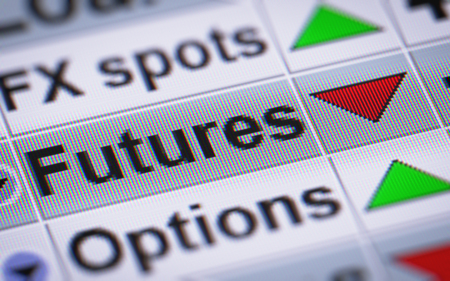 futures: In finance, a futures contract (more colloquially, futures) is a standardized forward contract which can be easily traded between parties other than the two initial parties to the contract. Stock Photo