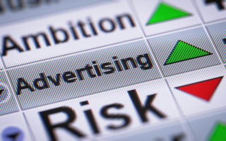 advertisers: Advertising on the screen. Up.