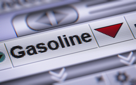 brent: Index of Gasoline. Down.