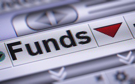 funds: Funds on the screen. Down.