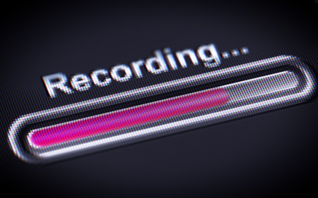 megabyte: Process of Recording on a screen.