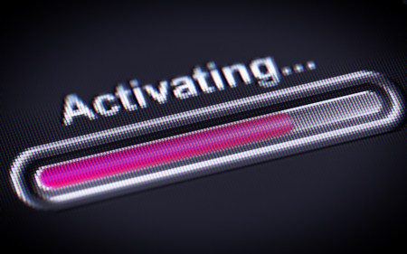 activating: Process of Activating on a screen.