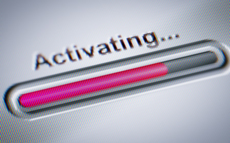 Process of Activating on a screen.
