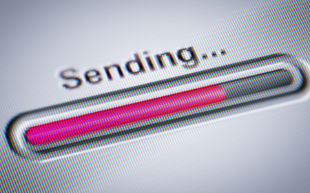 Process of Sending on a screen.