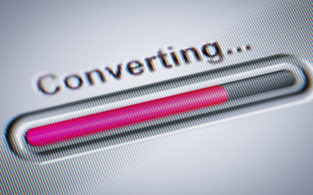 converting: Process of Converting on a screen.