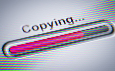 Process of Copying on a screen.