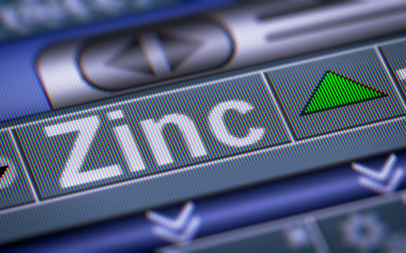 fluctuation: Index of Zinc on the screen. Up.