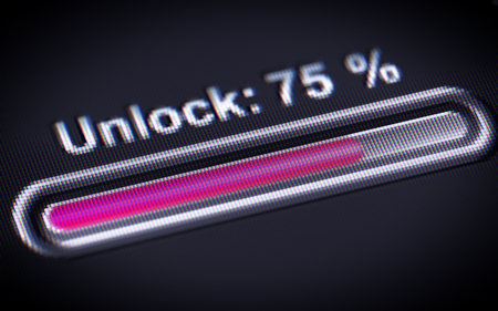 breaking the code: Process of Unlocking on the screen.