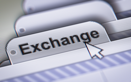 swaps: Report on the Exchange. Stock Photo