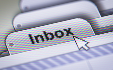 webmail: Inbox on the File. Stock Photo